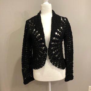 NWT black cardigan, size M